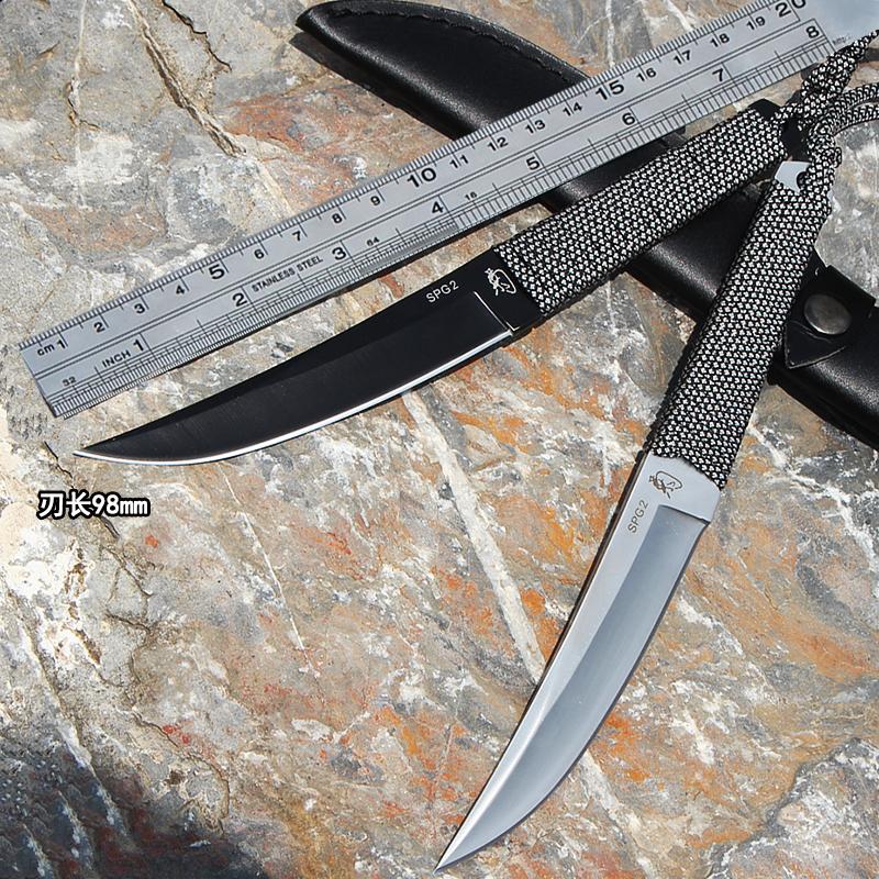 刀具 防身 冷兵器俄罗斯氚气刀随身高硬度直刀开刃军刀户外小刀