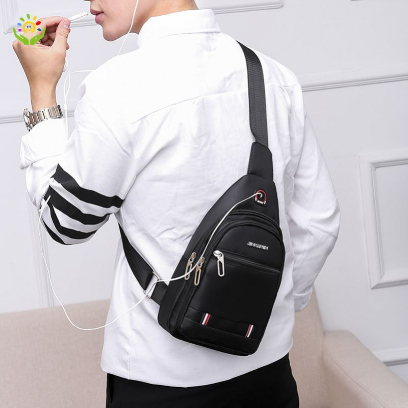 Small shoulder bag slant boast bag shoulder bag leisure bag college style travel student chest bag mens simple boys slant Backpack