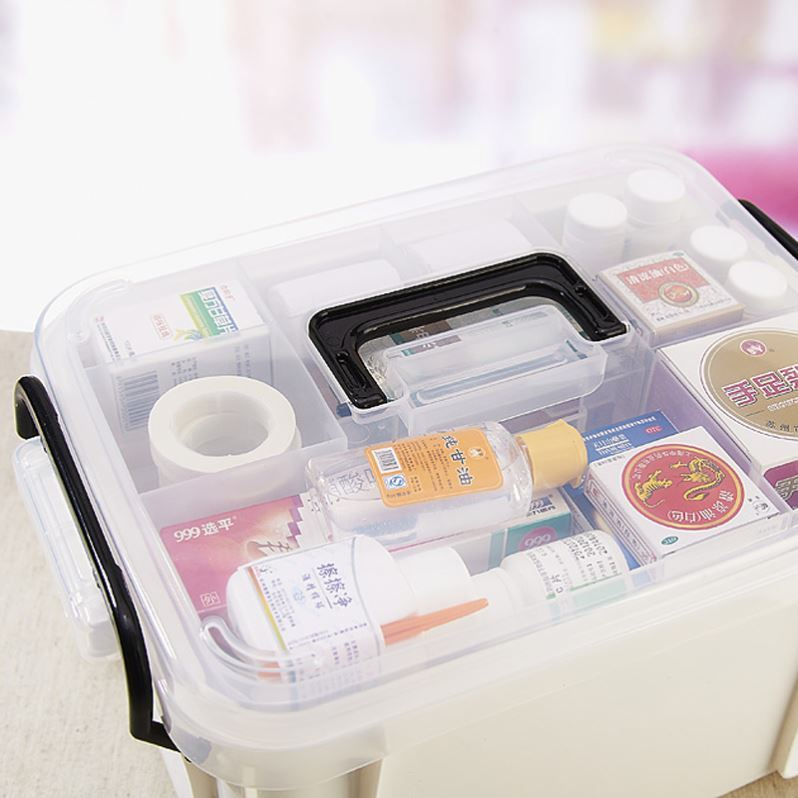 Medicine box medical plastic classification emergency medical doctor convenient personal fire care box prize box simple