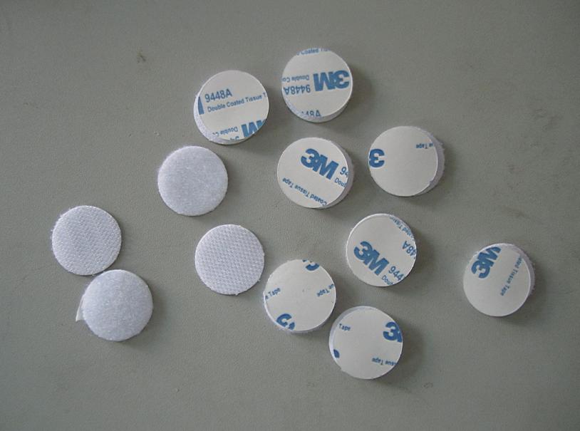 直径25mm宽 正品3m白色背胶冲型圆点圆形魔术贴 尼龙搭扣 粘性强
