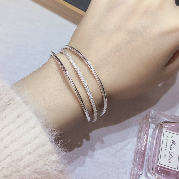 Hong Kong Zhengsheng Fashion Silver Jewelry Sterling Silver s999 Sansheng III the same type of bell bracelet for women with multiple circles