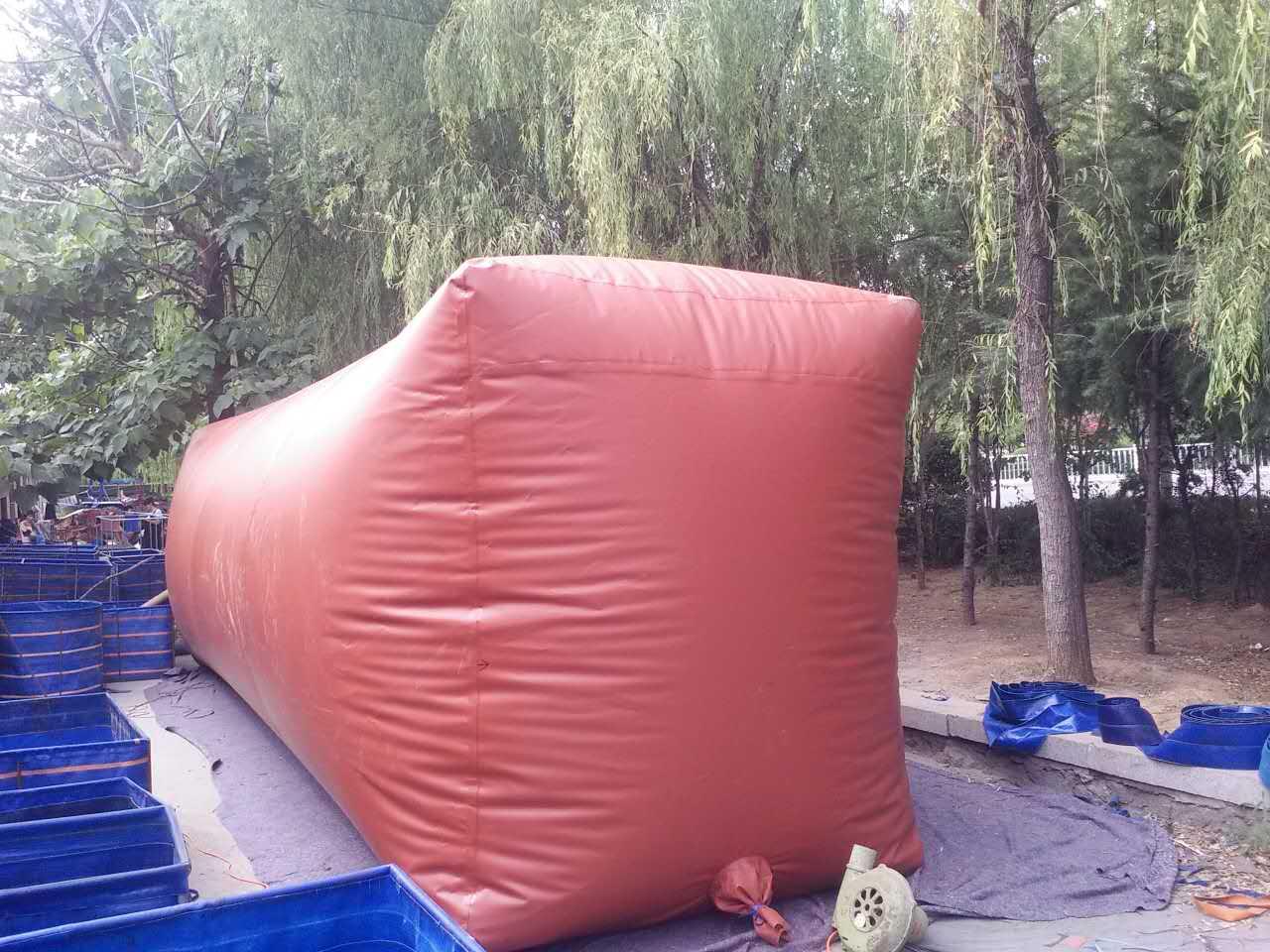 Красный Грязевой биогазовый бассейн ферма ферментационный резервуар биогазовое оборудование ферма биогаз проект бытовая биогазовая сумка