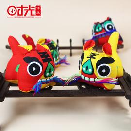 手工布老虎传统特色礼品民间工艺品摆件宝宝满月百岁礼玩偶送老外