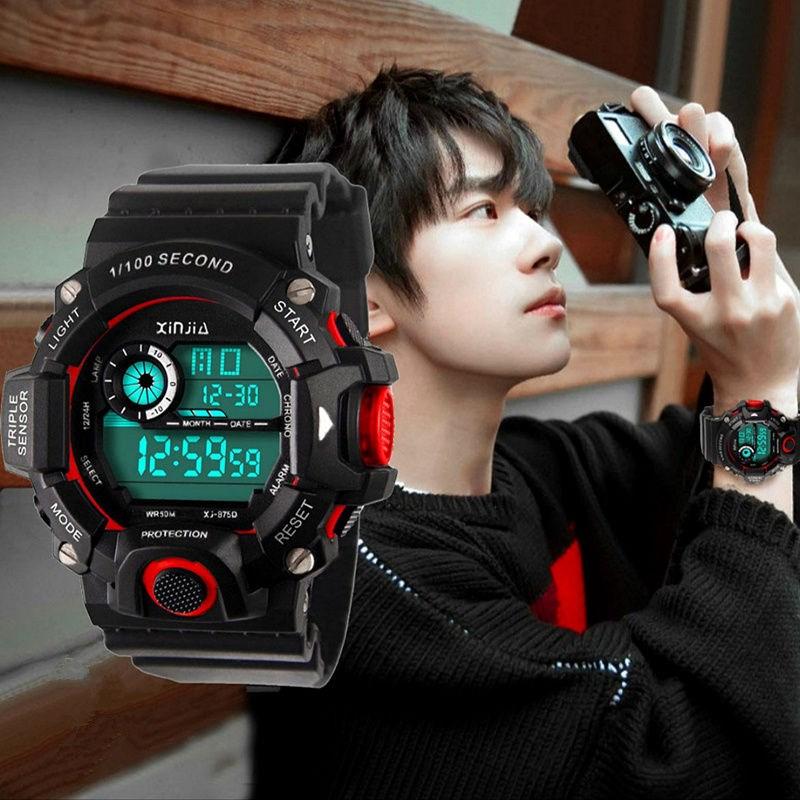 易烊千玺同款手表男孩初中韩版运动潮流防水夜光闹钟青少年电子表
