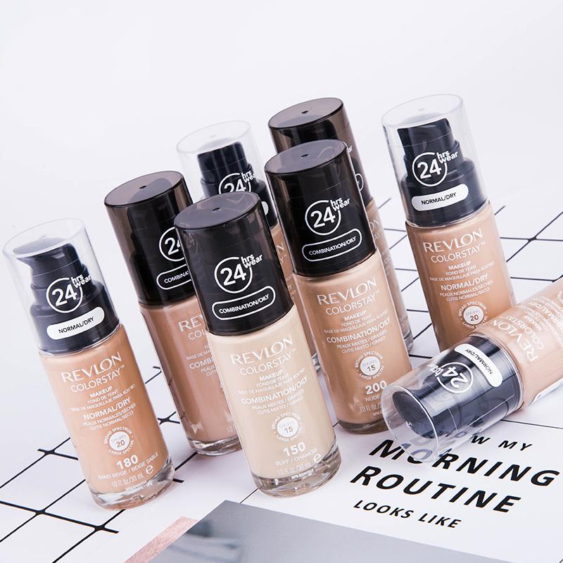 美国Revlon露华浓24小时不脱色粉底液 控油保湿遮瑕不易脱妆正品