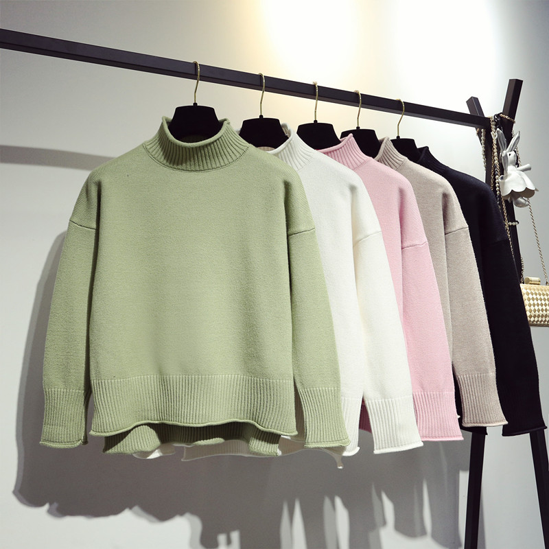 New semi turtleneck sweater for women in autumn and winter