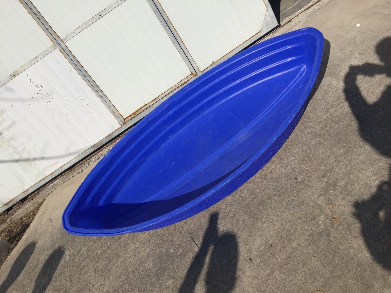 2米瓢型塑料船渔船捕鱼小船加厚pe钓鱼船下网舟橡皮艇塑胶船外机