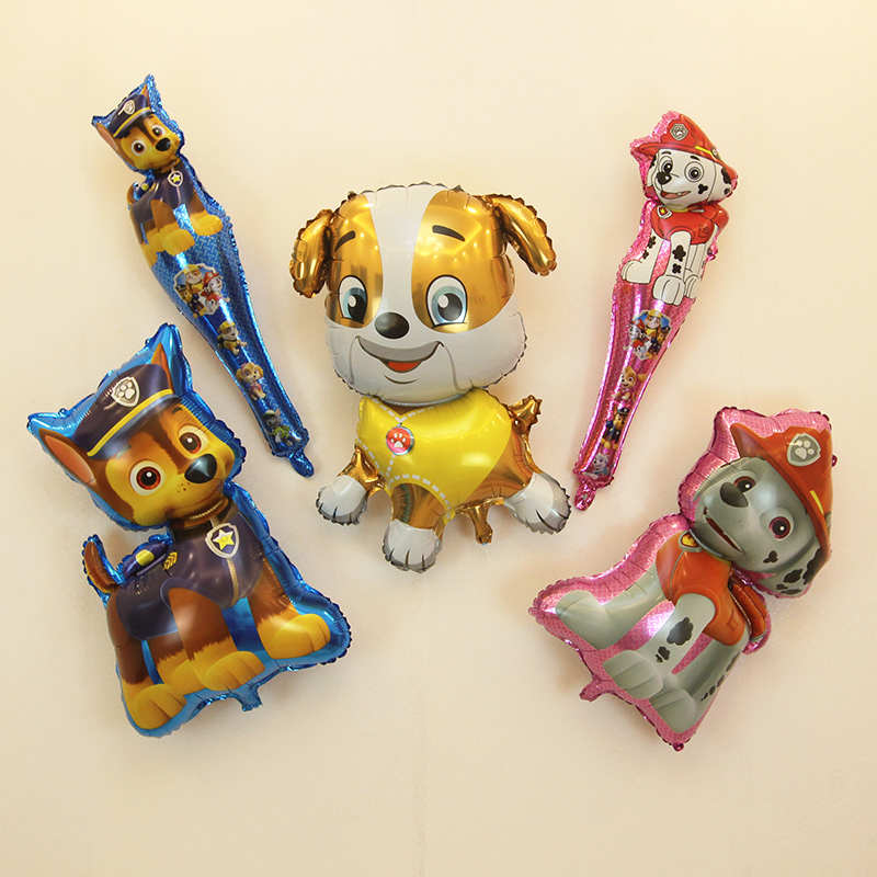 Year of the dog balloon Wangwang team holding stick Xiaoli Maomao Qi floating Balloon Dog balloon childrens toy birthday