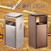 酒店新款大堂物业电梯分类不锈钢垃圾桶商场导轨果皮箱立式烟灰缸