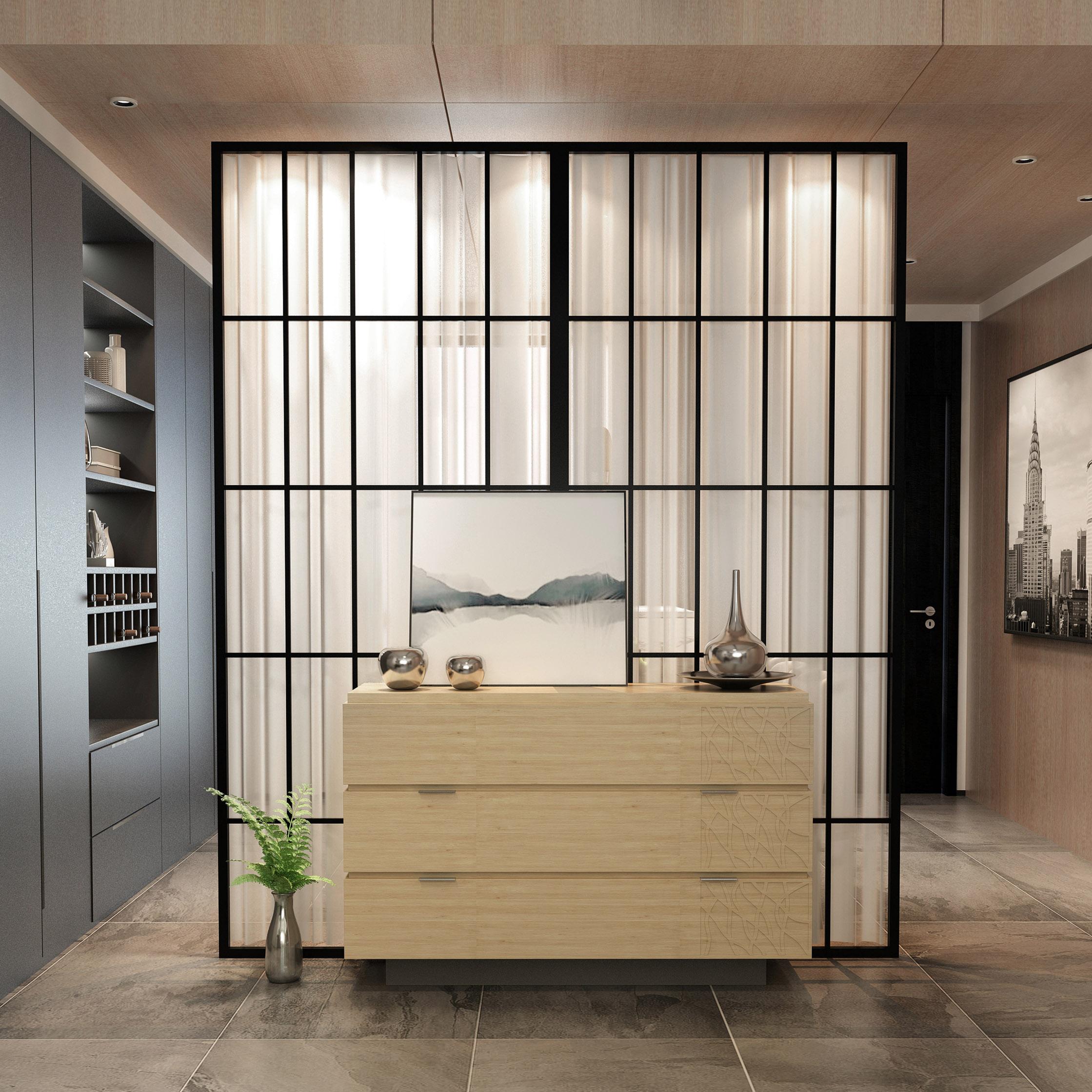 北欧简约屏风隔断墙房间卧室客厅入户餐厅服装店装饰家用铁艺定制