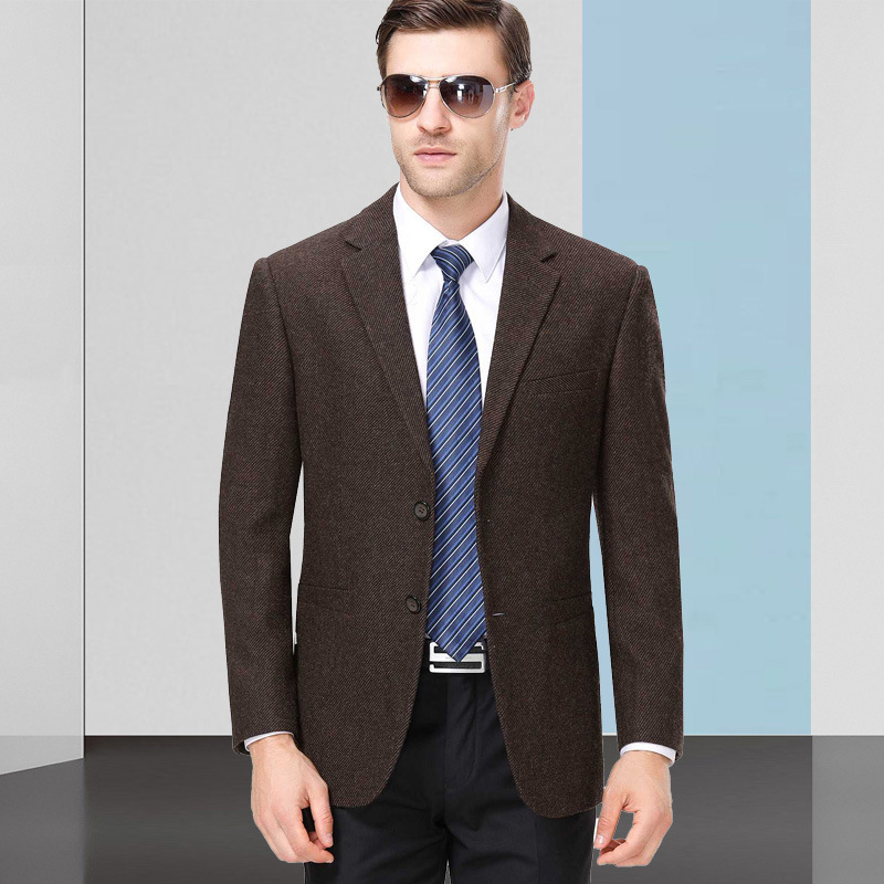 Promotion of middle-aged wool casual suit in spring