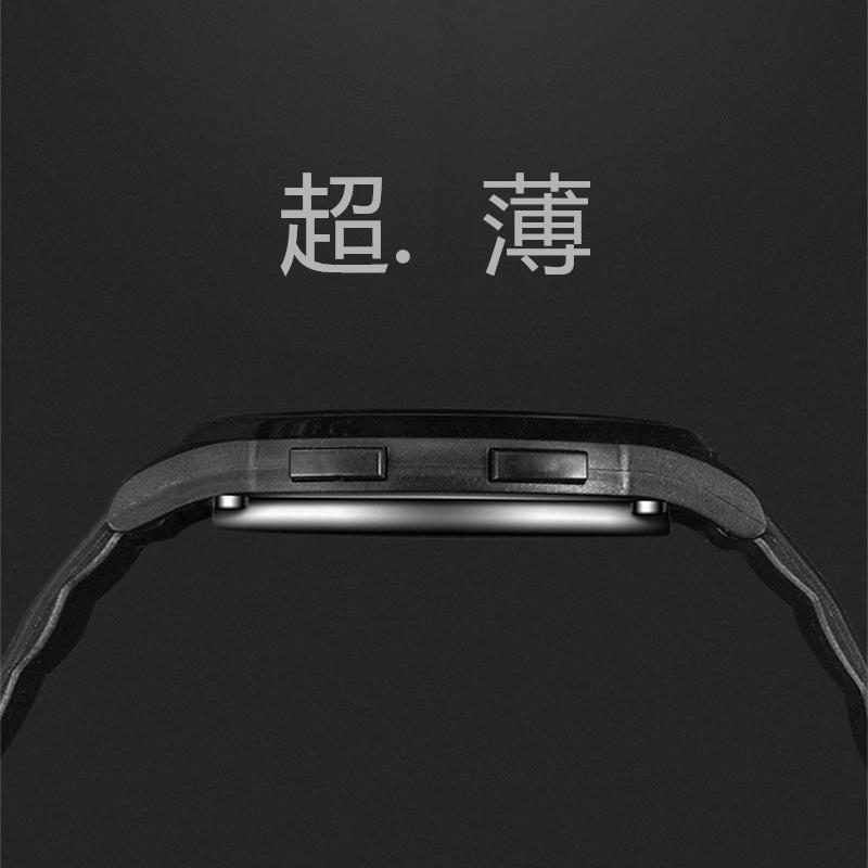 Korean fashion ultra thin simple sports watch mens and womens electronic watch digital waterproof luminous student Watch