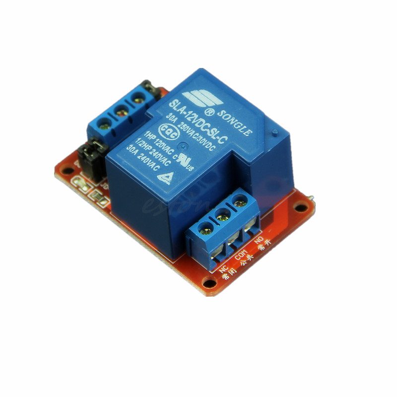 30A 12V 1-Channel Relay Module Board With Optocoupler H/L Le,可领取元淘宝优惠券