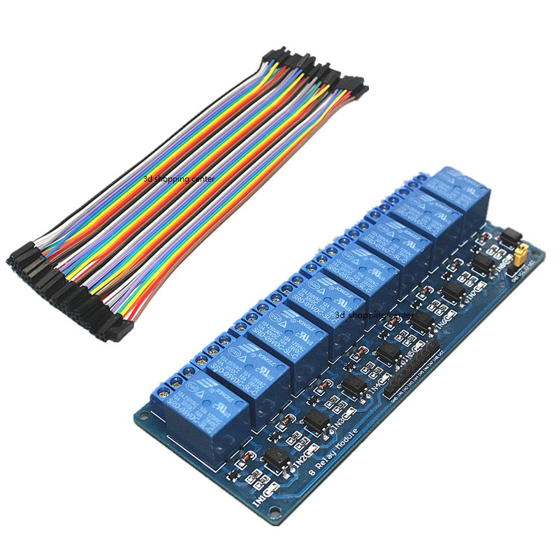 DC 5V 8 Channel Relay Module + 40 Pin Female-Female Dupon,可领取元淘宝优惠券