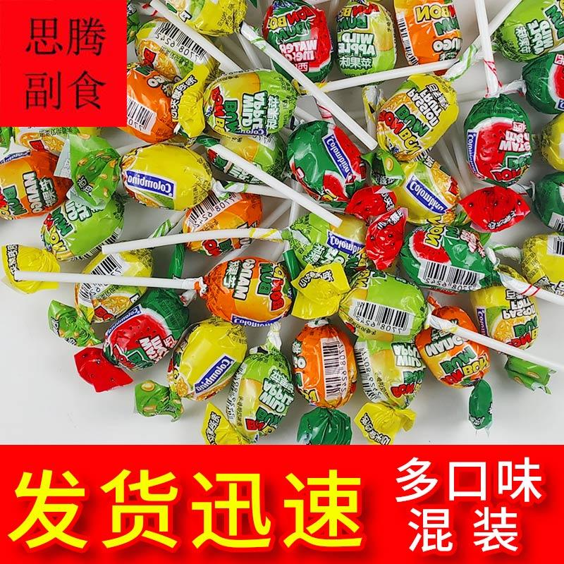 Columbia imported beierbang fruit lollipop package mail 17g / 20 pieces of bulk bubble gum sandwich candy