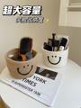 桌面收纳盒宿舍客厅整理化妆品零食钥匙收纳篮茶几杂物编织收纳筐