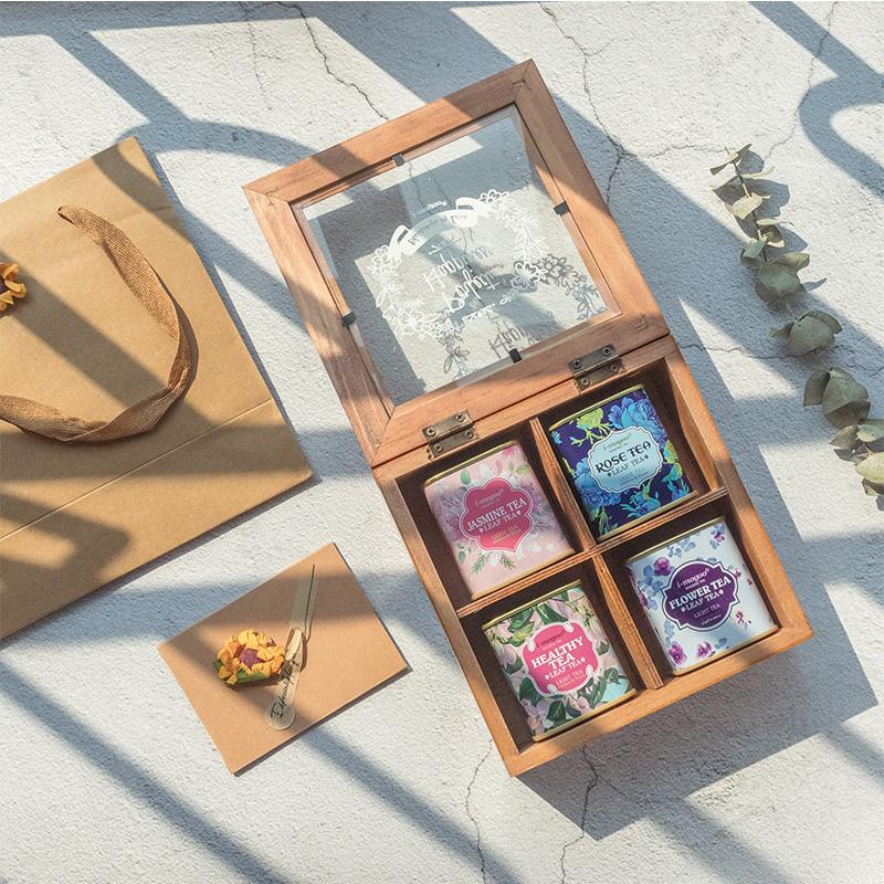 组合礼盒装玫瑰花养生茶
