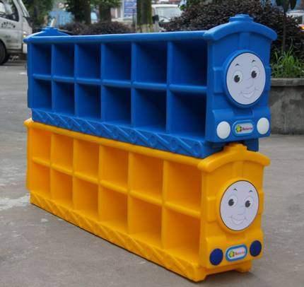 特价幼儿小火车鞋柜塑料收纳架儿童鞋柜托马斯鞋柜幼儿园鞋柜