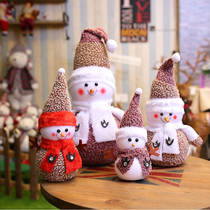Christmas Snowman old man Dolls fabric foam snowman doll decoration Christmas decorations window layout props