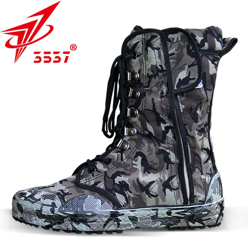 3537作训鞋男高帮军靴迷彩战术鞋特种兵野战作战靴沙漠靴防风沙夏