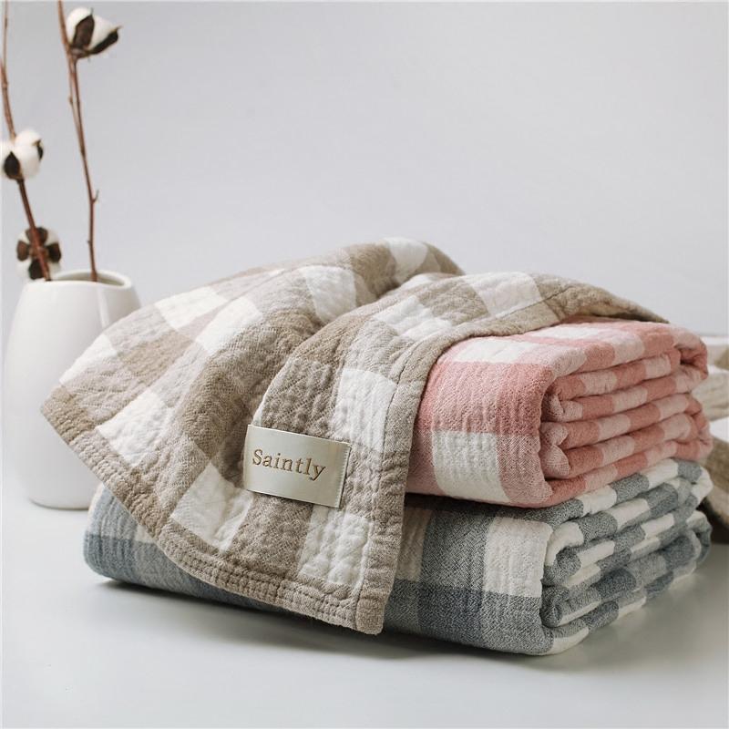 日本进口毛巾被纯棉单人双人纱布毛巾毯毛毯空调毯夏凉被床单四季