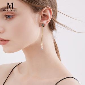 高级感耳夹法式无耳洞女气质仙气森系超仙耳坠耳饰夏季流苏假耳环
