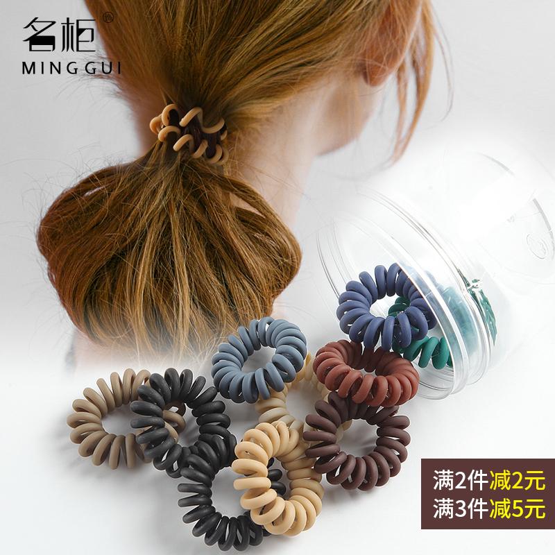 电话线发圈女发绳韩国无痕小号极细款磨砂简约皮筋扎头发网红头绳