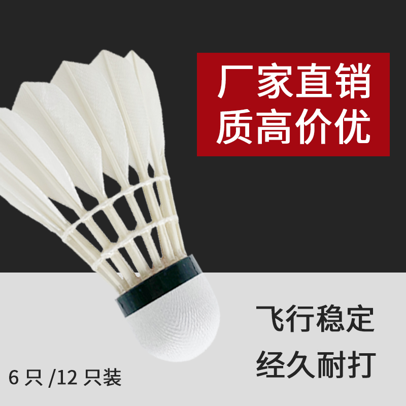 Badminton is equipped with 12 indoor training and match balls. It is not easy to be rotten and windproof. 6 badminton players are equipped with professional goose feather balls