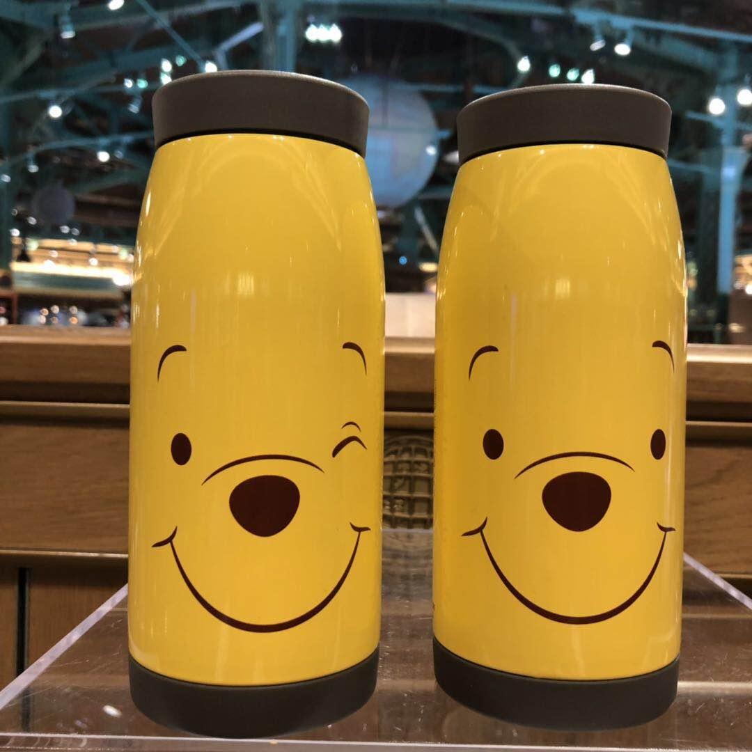 上海迪士尼国内代购 小熊维尼可爱小巧不锈钢便携保温杯水杯杯子