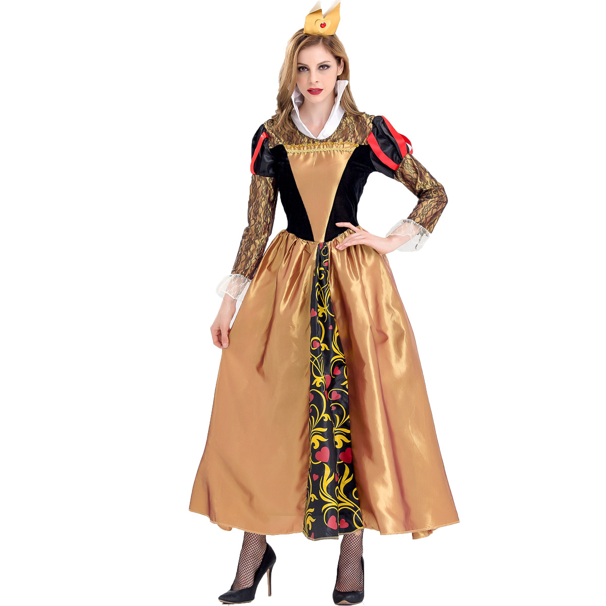 Halloween Queen Costume in Europe and the United States seduce sexy role play luxury poison queen Party Costume