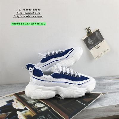 105A-YH8805#ins超火的鞋子男网面透气低帮休闲鞋厚底老爹鞋P95
