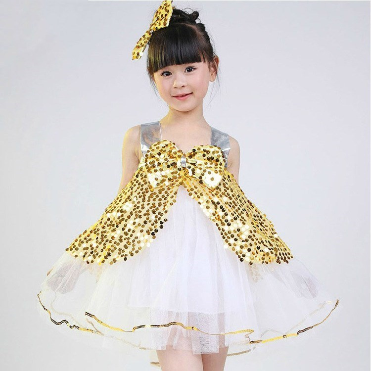 女孩幼儿合身舞蹈裙优雅可爱表演服甜美幼儿园六一演出服装裙子夏