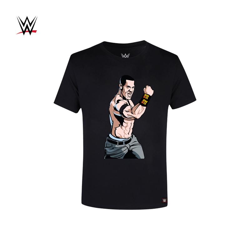 """WWE John Cena 约翰 塞纳 2018新款 """"永不放弃""""T恤短袖"""