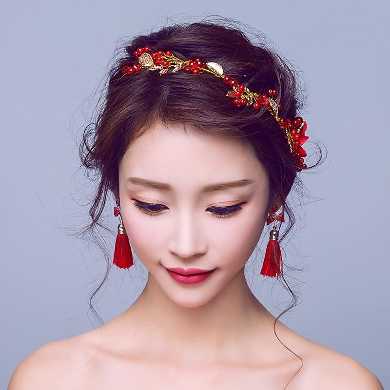 当天定制红妆1造型唐装古代新娘头饰龙凤宫廷舞台道具头仙女发箍