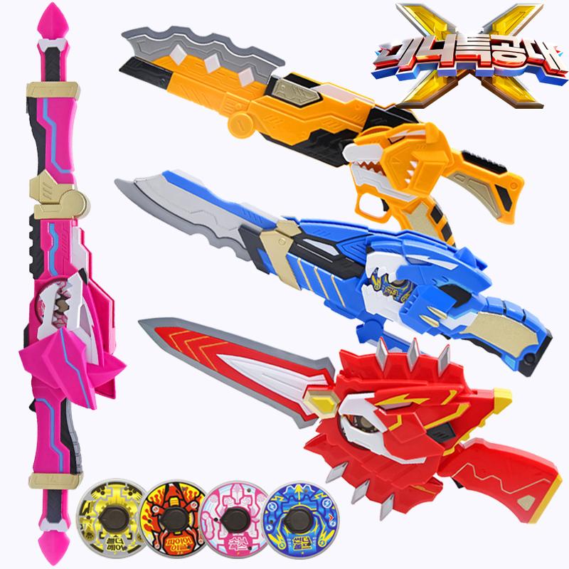迷你特工队X机甲武器弗特光之枪塞米麦克斯秘密变形玩具男孩套装X