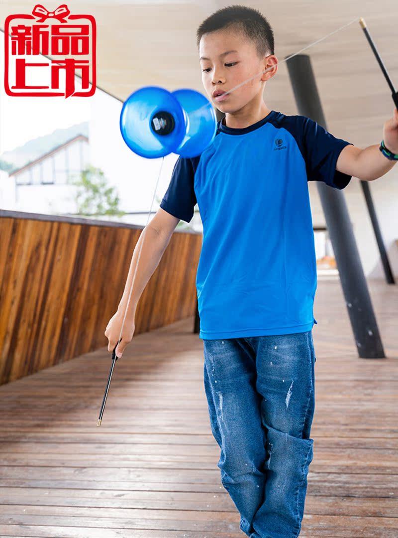 学生适用抖空竹树脂儿童卫生初学者双头健身扯铃耐磨防摔杆线高手