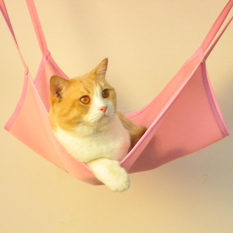 猫吊床挂钩秋千宠物猫咪挂窝笼子用悬挂式夏天猫窝猫吊篮猫笼挂床