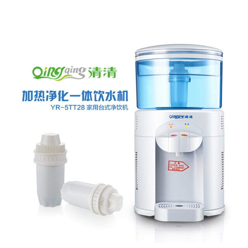 清清台式母婴饮水机小型迷你净水桶自来水过滤净水器直饮温热家用