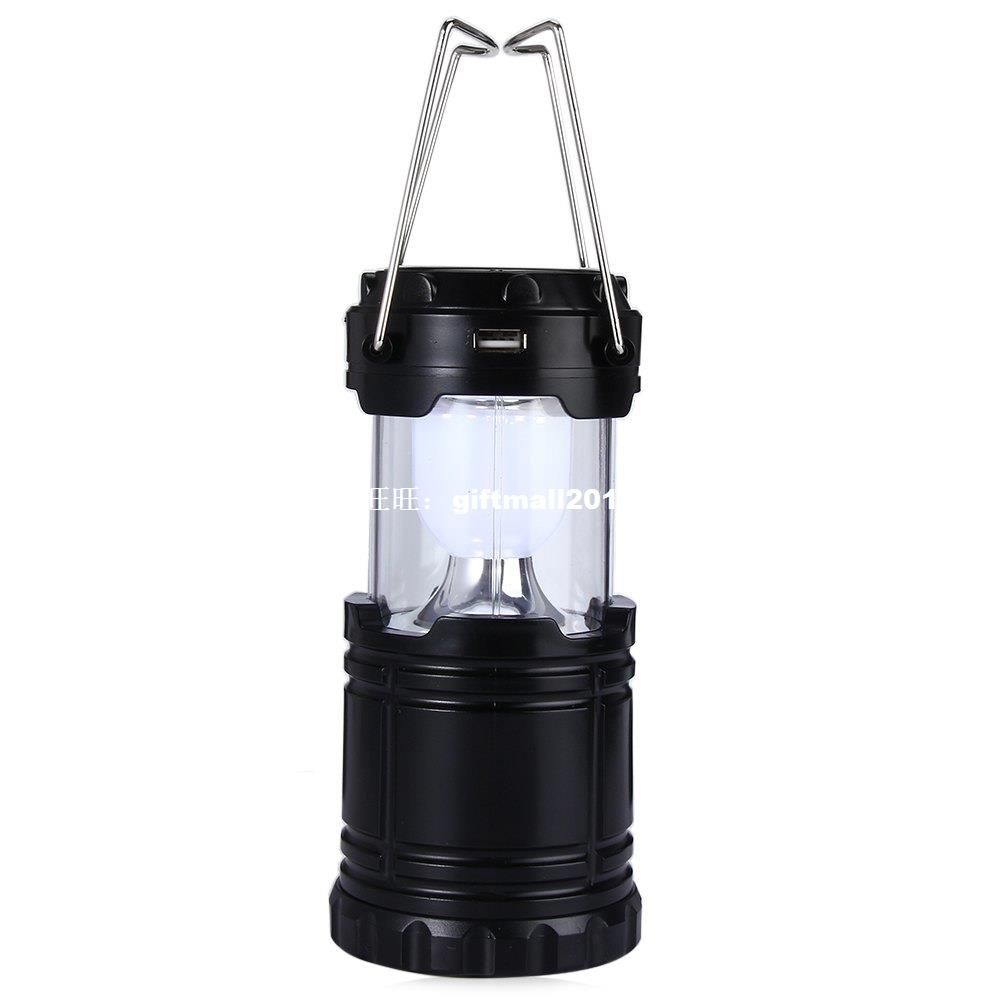 Portable Led Light Solar Camping Lantern 6 LEDs Rechargeable