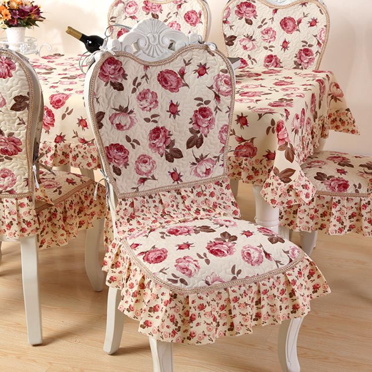 Новый континентальный стул подушка стул наборы стульев костюм председатель колодки обеденный стол сиденье подушка стул пакет скатерть простой