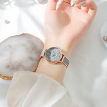 女士手表女ins风简约气质小众轻奢手表女森系学院风学生国产腕表