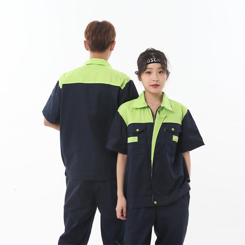 Male aspirator vehicle repairer labor protection worker machine repair uniform solid color labor protection suit black suit project construction 583625
