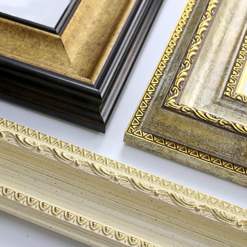 千色油画画框外框定做大油画装裱定制欧式复古油画框创意相框挂墙
