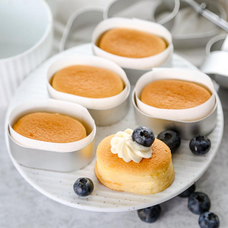 半熟芝士模具橢圓慕斯圈芝士蛋糕切模小烤箱用芝士圍邊紙烘焙包裝