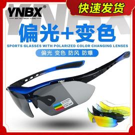 YNBX骑行眼镜偏光变色户外登山跑步马拉松自行车男女防风沙太阳镜图片