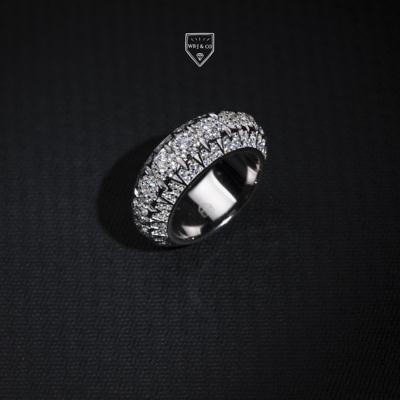 WBJ定制珠宝金字塔戒指S925纯银镀金银饰戒指 首饰 饰品 全国包邮