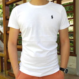 2021夏季POLO RL圆领短袖t恤男纯棉保罗体恤衫小马标纯色打底衫薄