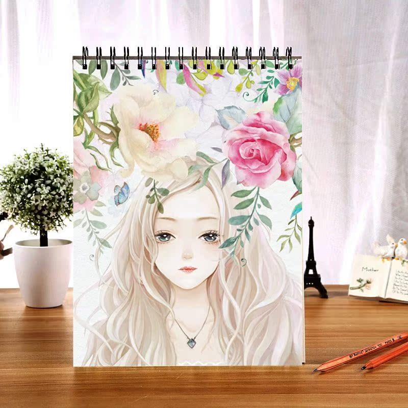 新品新款A3手绘素描本大号美术画画彩铅本子绘画本专用八开厚2018