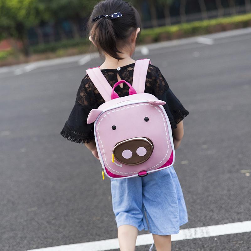 限100000张券儿童防走失包卡通小猪小鹿小象双肩背包1-3岁5男女宝宝幼儿园书包