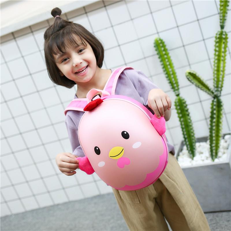 限100000张券幼儿园书包男童女孩宝宝1-3-5岁防走失背包 卡通蛋壳包儿童小书包